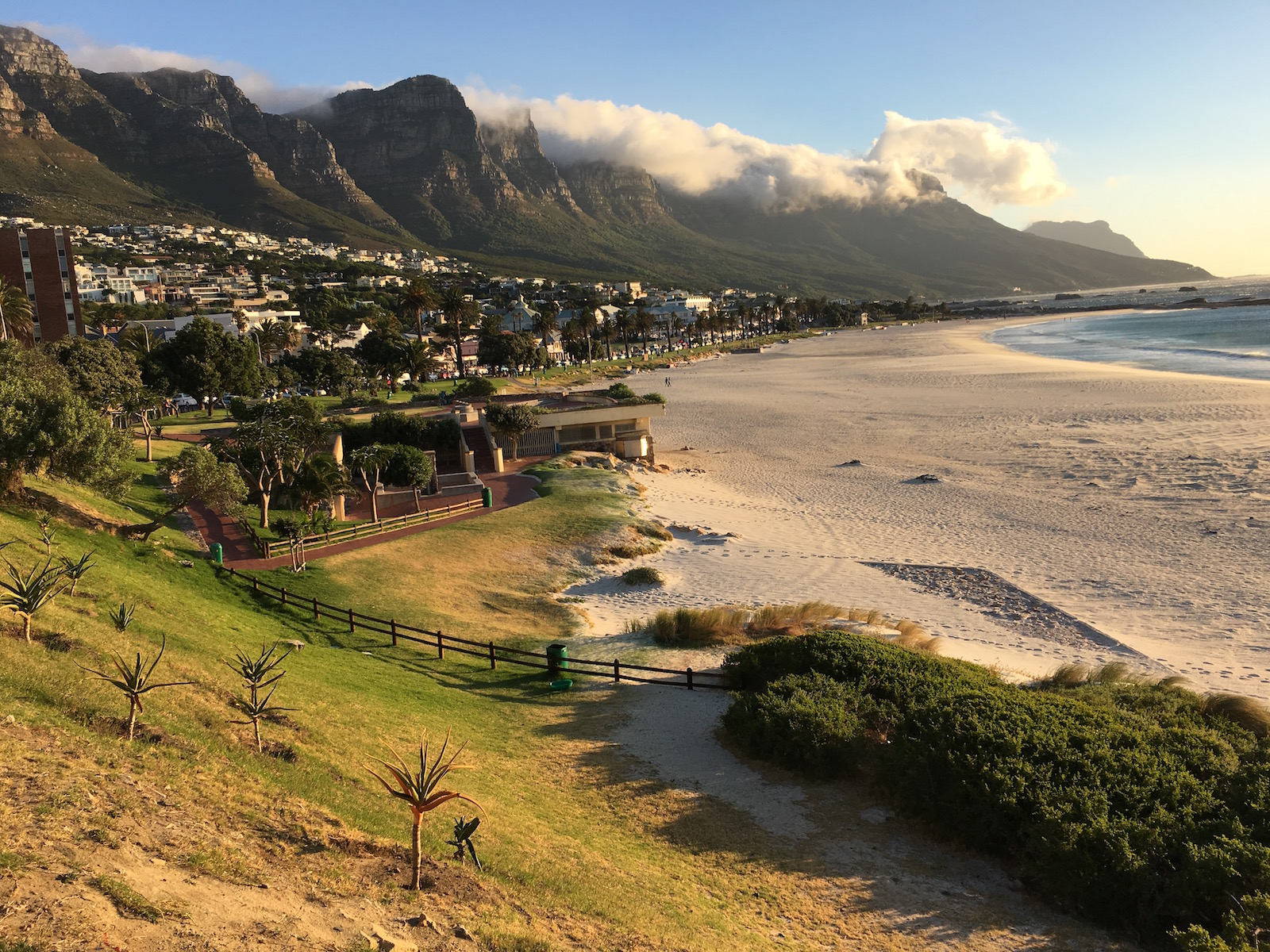 Catching an Uber to Camps Bay for dinner and to enjoy the sunset.
