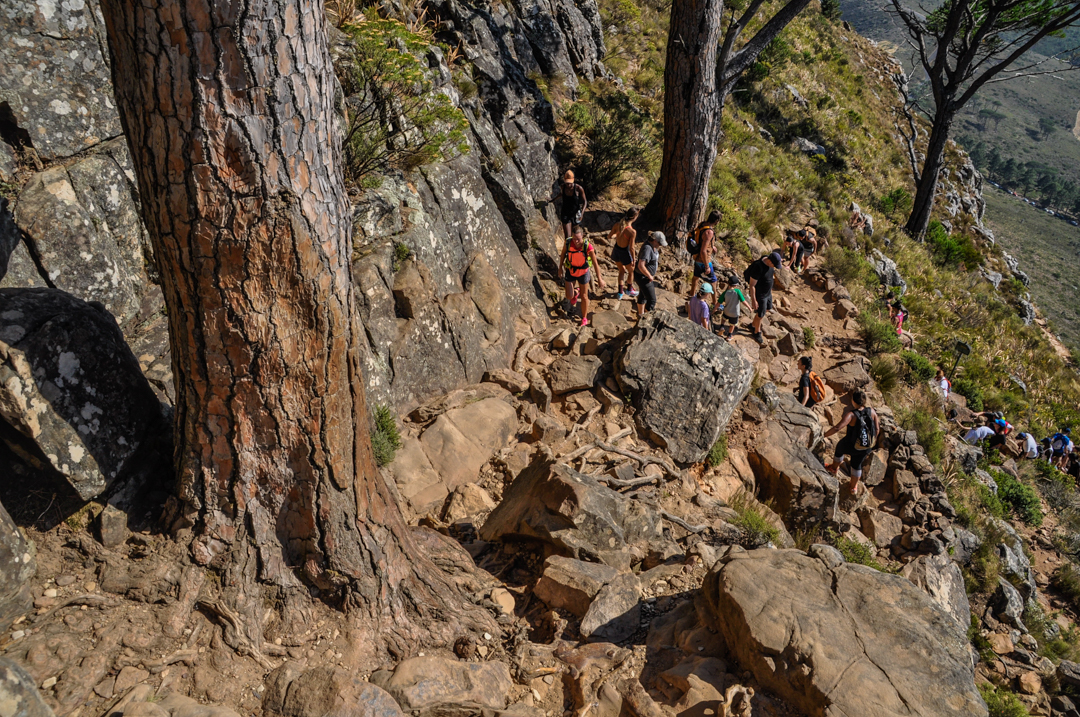 The path up to Table Mountain is extremely popular amongst tourists and locals. Best to avoid on weekends.